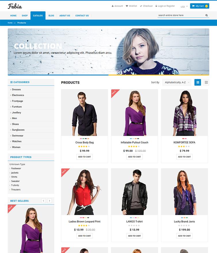 Fabia Shopify Premium Theme - 100 Responsive Template - shopify template