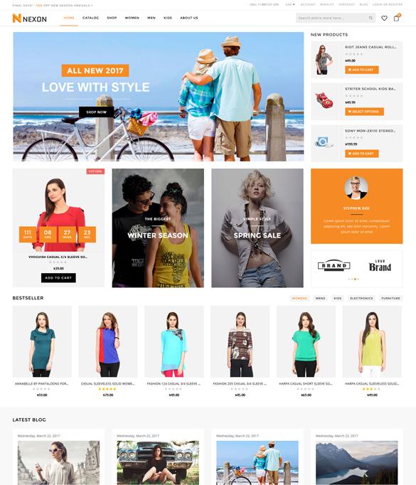 Nexon Shopify Premium Theme - 100 Responsive Template - shopify template