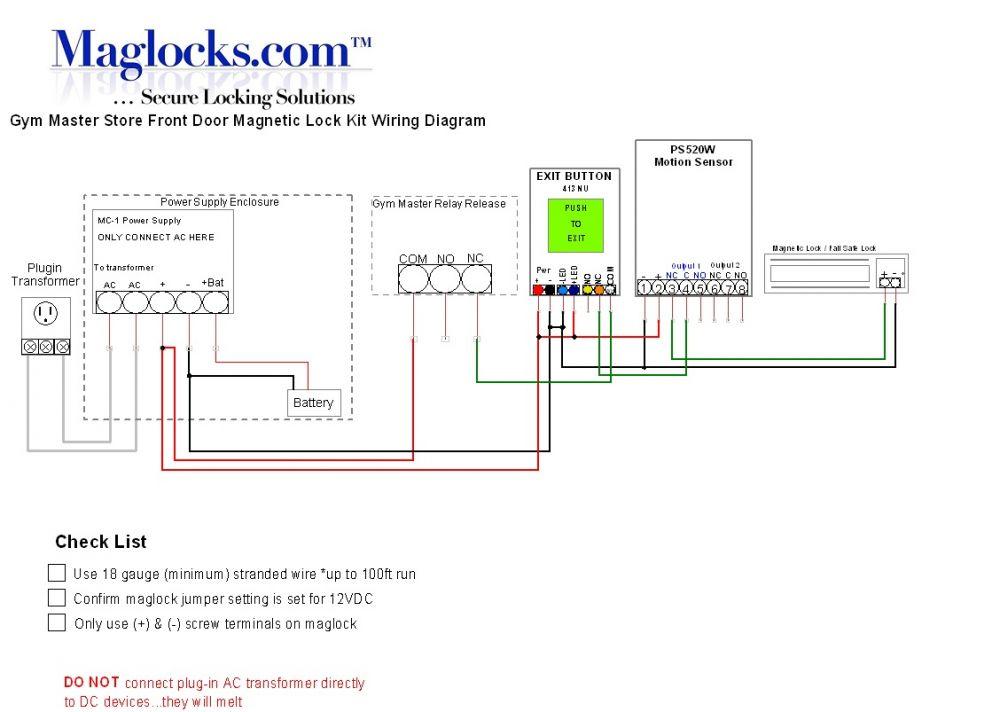 GM, Door Magnetic Lock Kit for Storefront Doors Maglocks