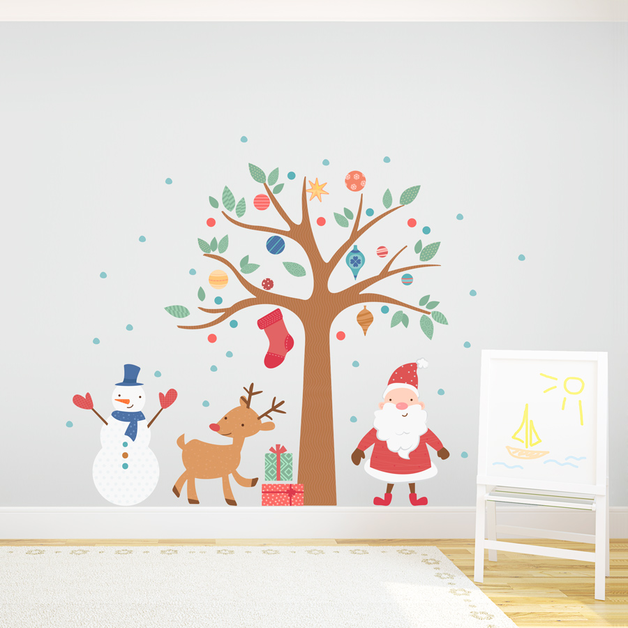 Znalezione obrazy dla zapytania christmas wall decorations