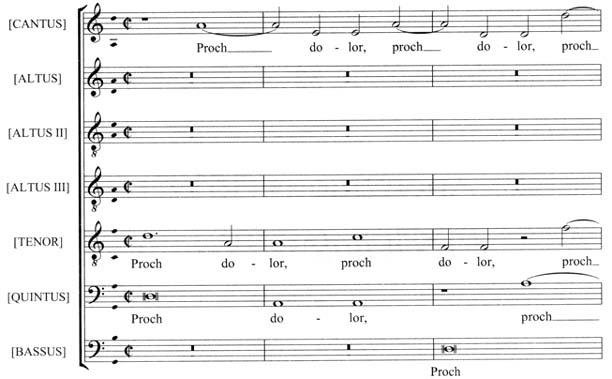 Sheet Music  Anonymous Proch Dolor/ Pie Jesu (1500) -ScP - proch