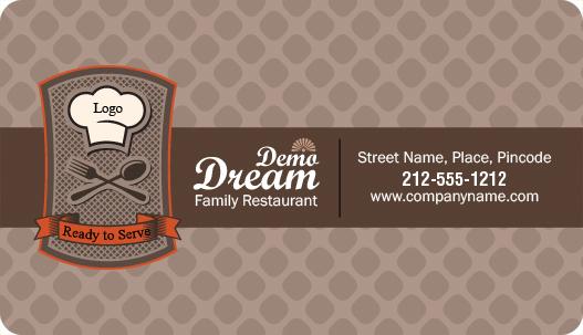 2x35 Family Restaurant Business Card Round Corner Full Color Magnet