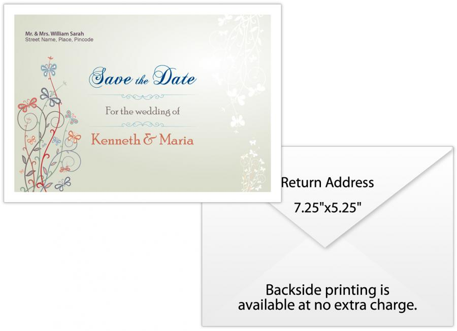 Personalized Wedding Save the Date Envelope 725x525 Plain White
