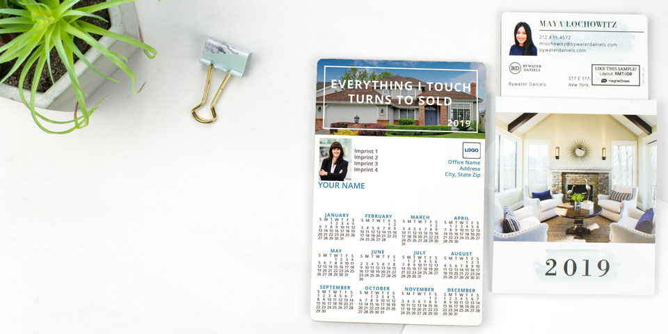 2019 Magnetic Calendars Personalized Business Calendar Magnets