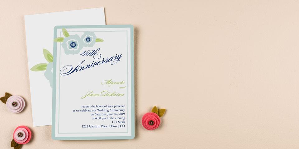 Anniversary Invitations Personalized Wedding Anniversary Invites