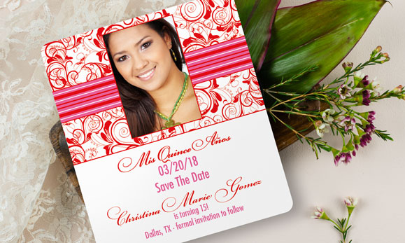 Quinceanera Save the Dates  Invitations Personalized Designs