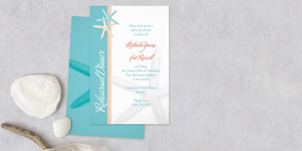 Personalized Rehearsal Dinner Invitations MagnetStreet Weddings