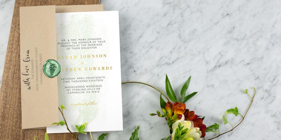Wedding Invitations Match Your Style Free Custom Samples