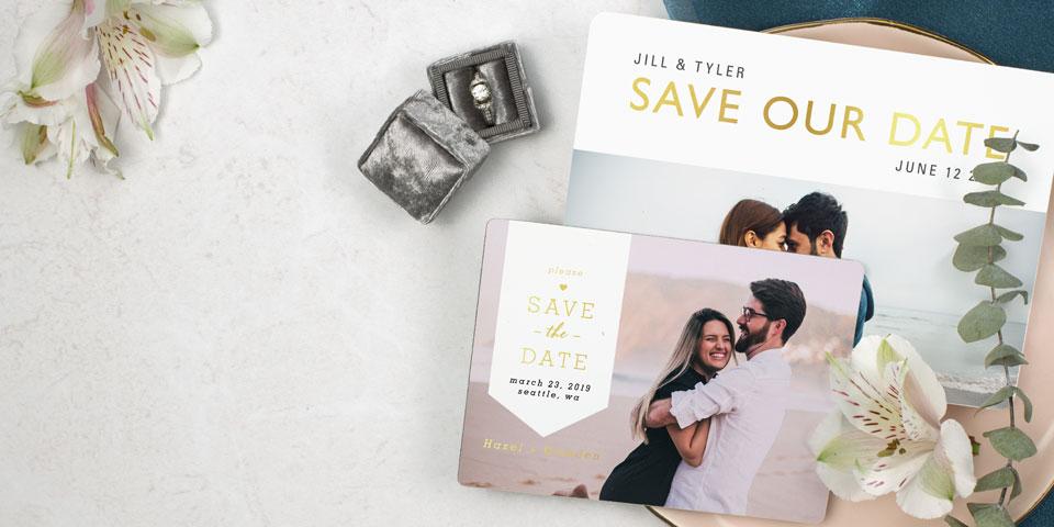Personalized Save the Dates  Wedding Invites MagnetStreet Weddings