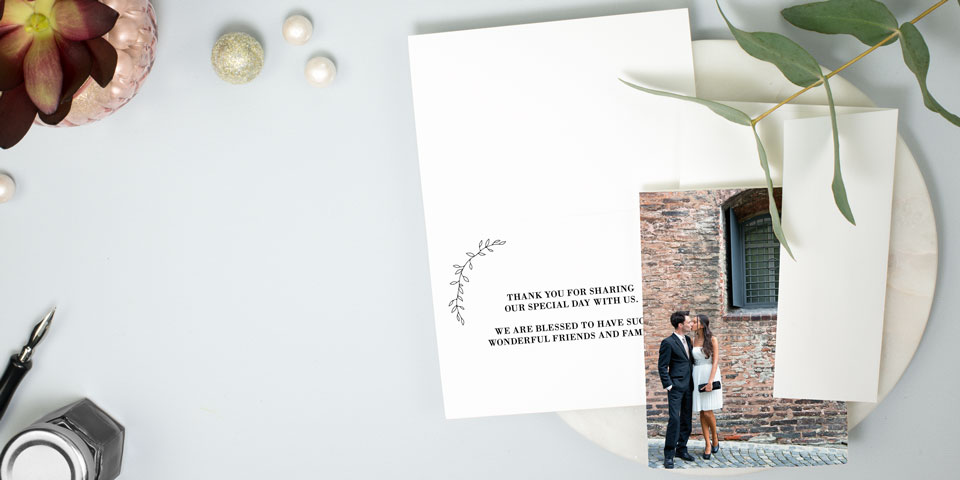Wedding Thank You Cards Match Your Style Get Free Samples