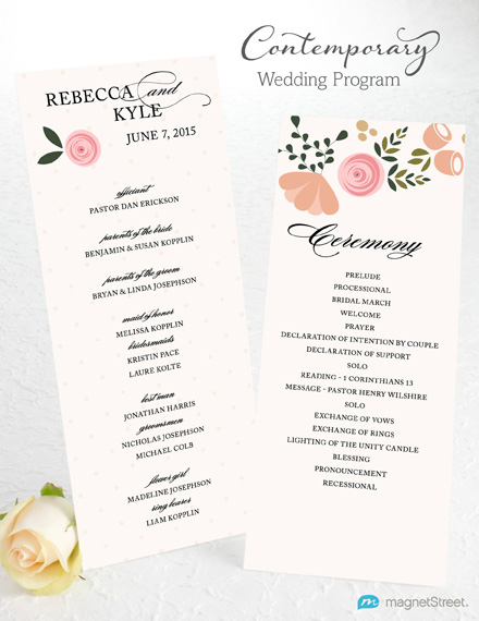 wedding programs layout examples - Towerssconstruction