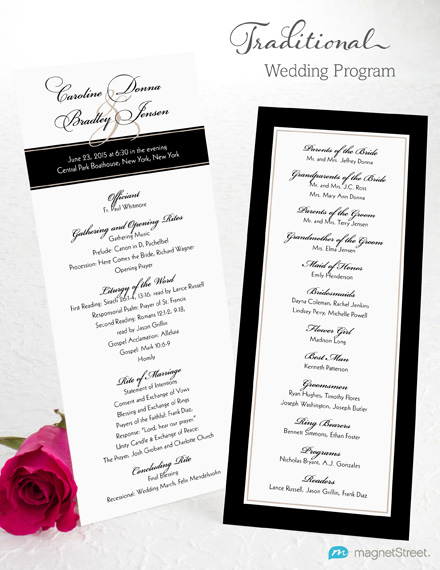 Wedding Program Wording MagnetStreet Weddings