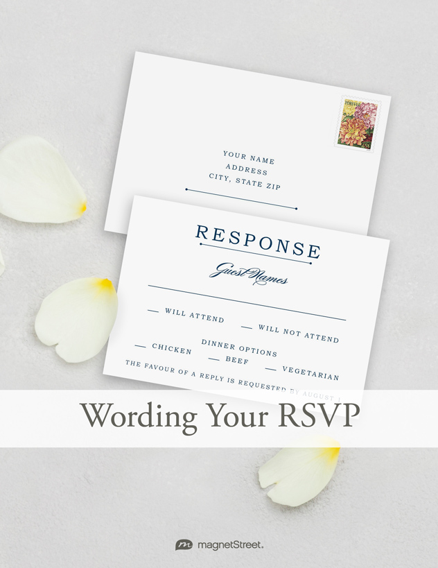 Wedding RSVP Wording MagnetStreet Weddings - response card examples