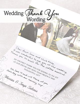 Wedding Thank You Wording MagnetStreet Weddings