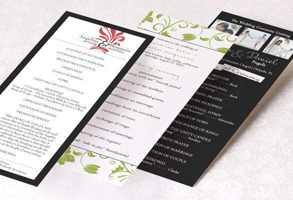 Wedding Program Wording  Templates - how to design wedding program template