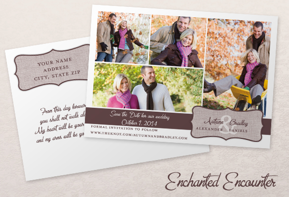 New! Standard Size Save the Date Postcard - save date postcard