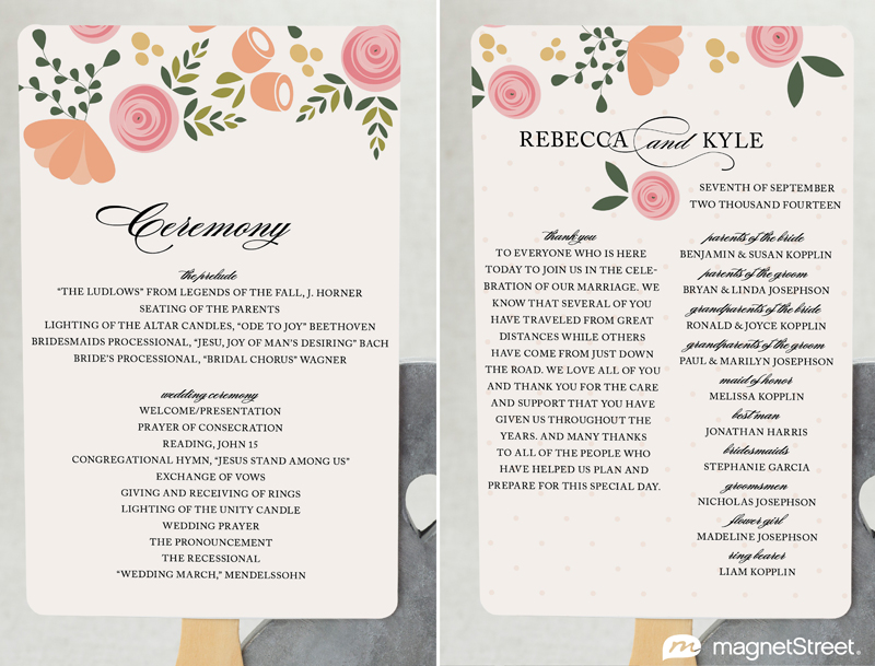 2 Modern Wedding Program and Templates - how to design wedding program template