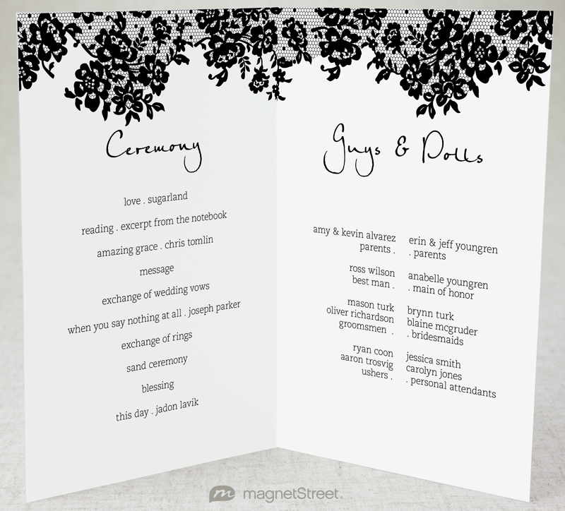 wedding ceremony program templates xv-gimnazija