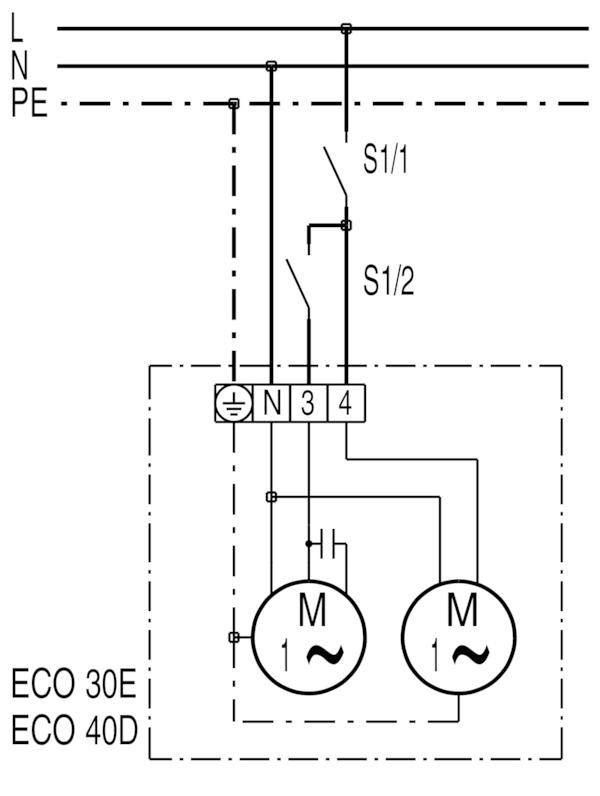 table fan connection diagram