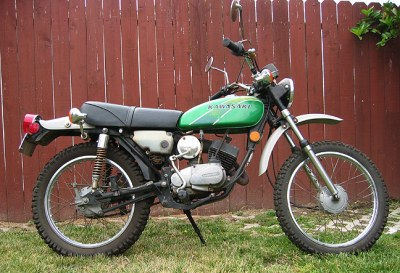 This is a 77 Kawasaki 100 but it looks similar. You can see the ...