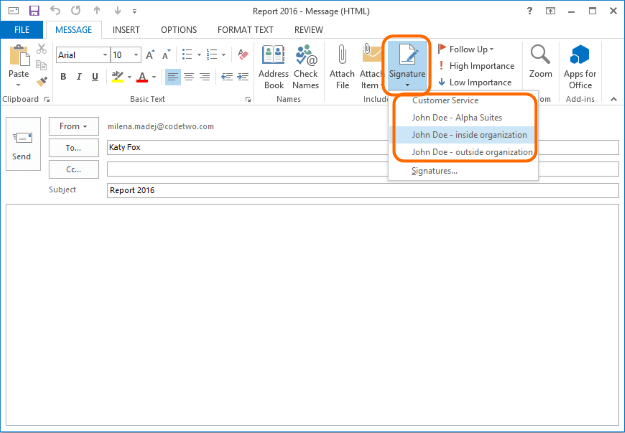 How To Use Multiple Email Signatures In Microsoft Outlook