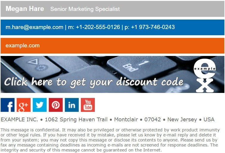 Marketing Email Signature - how to design a good email signature