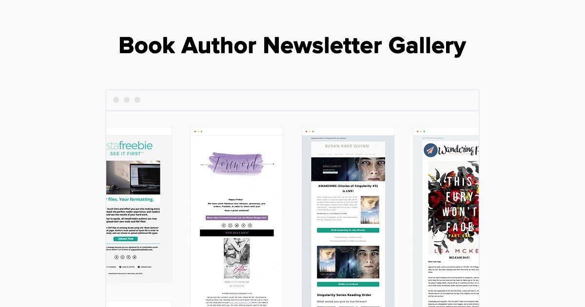 Book Author Newsletter Examples - Gallery - MailerLite