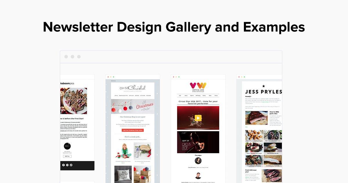 Email Newsletter Design Examples - Gallery - MailerLite