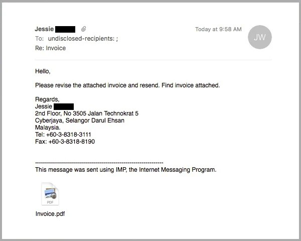 Fraudulent \u0027Invoice\u0027 Email Carries an Adobe ID Phishing PDF Attachment
