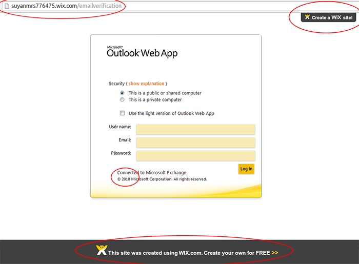 Email Phishing Scam Targeting Microsoft Outlook Web Access Users