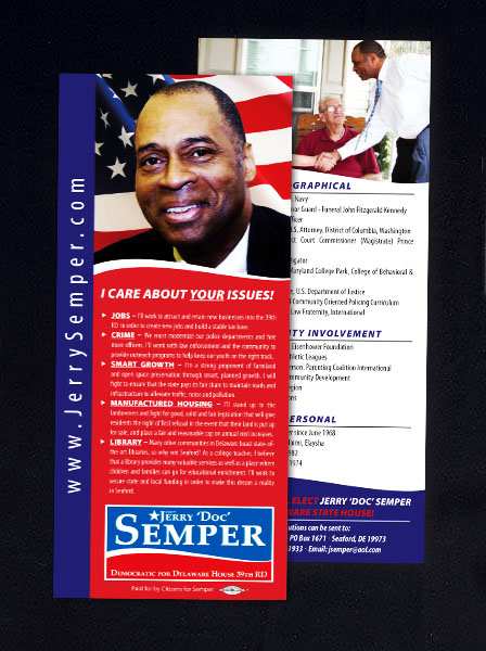 Political Samples « Mailing, Inc, Philadelphia and Wilmington Area - political brochure