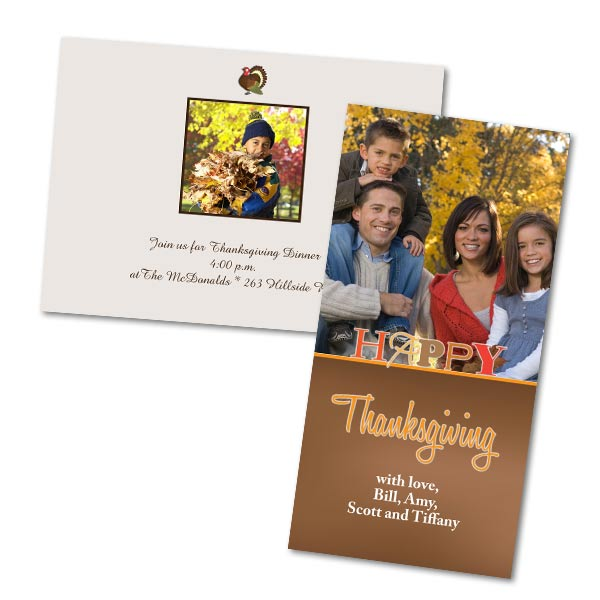 Custom Thanksgiving Cards Thanksgiving Invitations MailPix MailPix