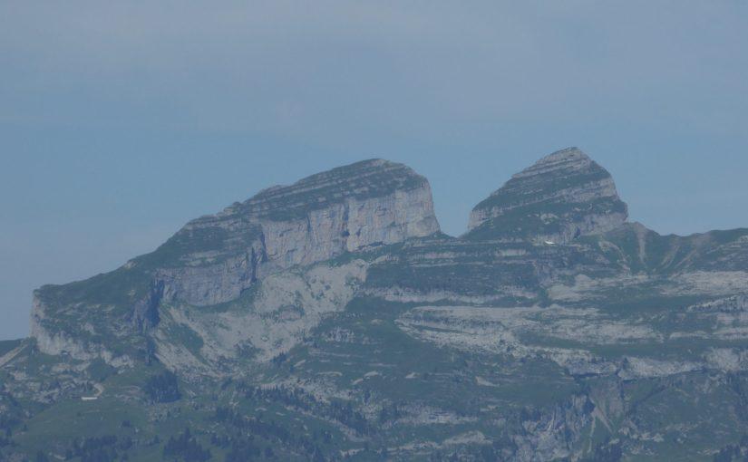 Admiring the Tour D'Aï from the Via Ferrata de la Cascade