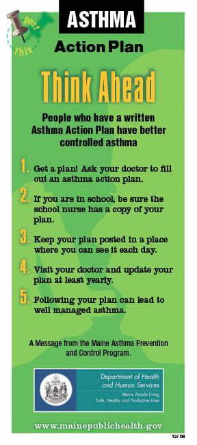 Have a Plan - Division of Disease Prevention - Maine CDC DHHS Maine - sample asthma action plan