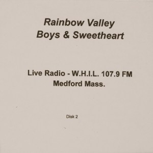 CD-0333, Rainbow Valley Boys _ Sweetheart, Live Radio, Disk 2