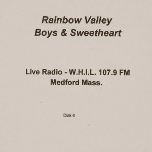 CD-0345, Rainbow Valley Boys _ Sweetheart, Live Radio, Disk 6