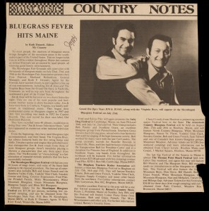 NEWS-0909, Skowhegan Bluegrass Festival Story, 1983
