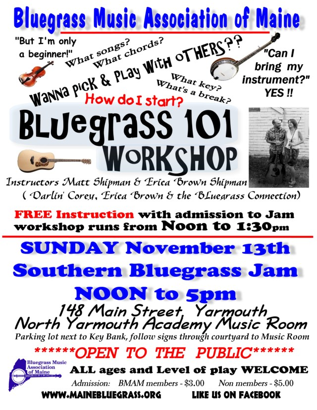 NYA southern jam bluegrass 101 workshop nov 2016