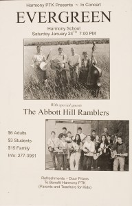 POST-0002, Evergreen and The Abbott Hill Ramblers