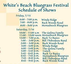 white's beach 2016 schedule
