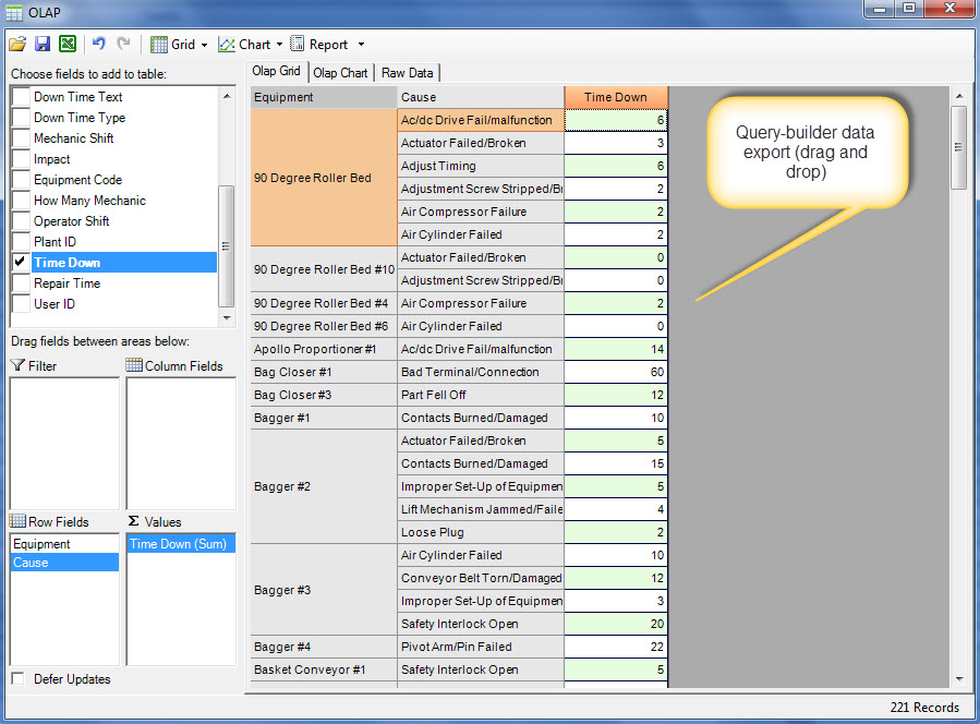 Machine Maintenance Software Reporting Excel Cmmssoftware
