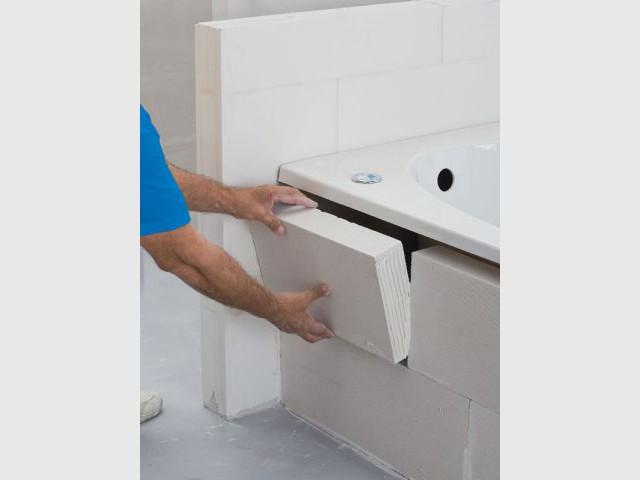 Installer des cloisons et des rangements en béton cellulaire - Salle De Bain En Siporex