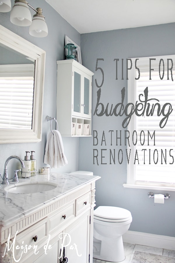 Bathroom Renovations Budget Tips - renovations on a budget