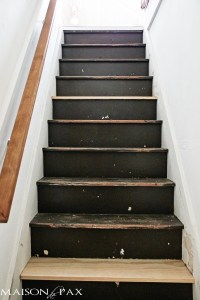 Black and White Painted Stairs - Maison de Pax