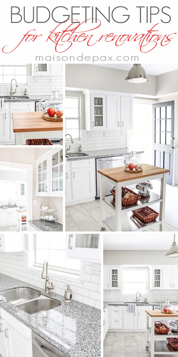 Budgeting Tips for a Kitchen Renovation - Maison de Pax