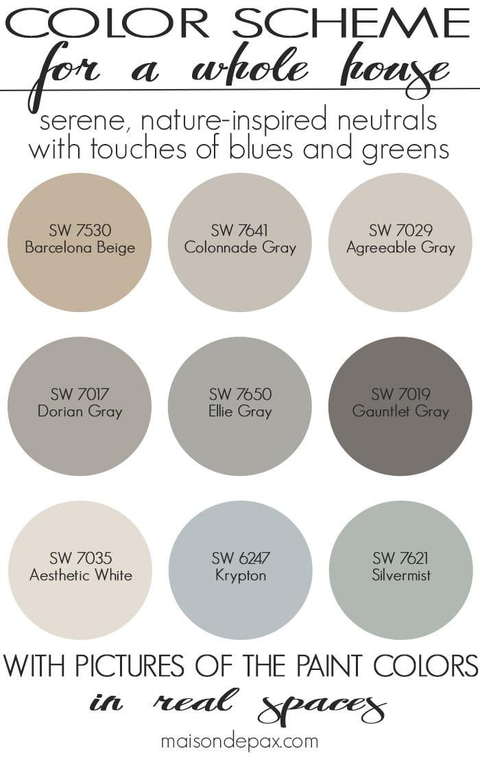 Paint Color Home Tour Nature-Inspired Neutrals - Maison de Pax
