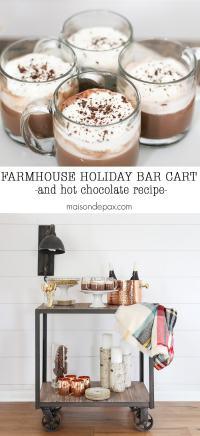 Farmhouse Holiday Bar Cart - Maison de Pax