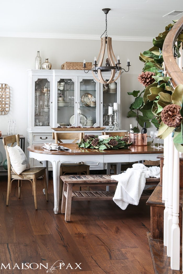 French Farmhouse Christmas Dining Room