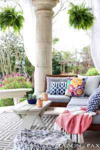 Spring Patio Decorating Ideas - Maison de Pax