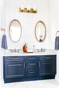 Navy and White Bathroom Makeover - Maison de Pax